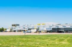 L'Ukraine, Borispol - 22 mai : Terminal B à l'aéroport international de Boryspil le 22 mai 2015 dans Borispol, Ukraine Image libre de droits