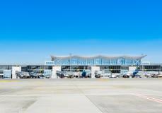 L'Ukraine, Borispol - 22 mai : Terminal D à l'aéroport international de Boryspil le 22 mai 2015 dans Borispol, Ukraine Images libres de droits