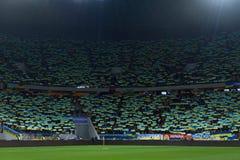 L'Ukraine et la Slovénie Barrage 2016 d'EURO de l'UEFA Images stock