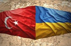 L'Ukraine et la Turquie Image libre de droits