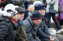 L'Ukraine euromaidan à Kiev Image stock