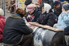 L'Ukraine euromaidan à Kiev Photographie stock libre de droits