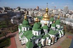 l'ukraine kiev l'ukraine Cathédrale de Sophias de saint Poggioreale ruine la trappe dans le balcon image libre de droits