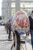 l'ukraine Kiev, le 27 avril 2017 Décoration de Pâques sur Sofievskaya Photographie stock