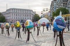 l'ukraine Kiev, le 27 avril 2017 Décoration de Pâques sur Sofievskaya Image stock