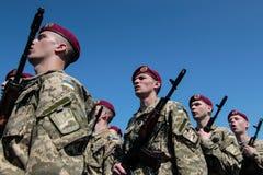 l'Ukraine, Kiev 8 mai 2015 : Les recrues des forces armées de l'Ukraine participent une cérémonie de serment Photo libre de droits