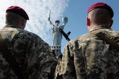 l'Ukraine, Kiev 8 mai 2015 : Les recrues des forces armées de l'Ukraine participent une cérémonie de serment Photographie stock