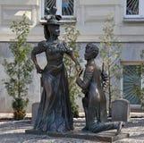 l'ukraine kiev Monument aux caractères de la comédie pour deux lièvres Image stock