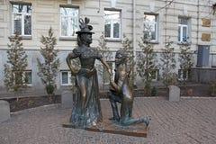 l'ukraine kiev Monument aux caractères de la comédie pour deux lièvres Photographie stock libre de droits