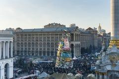 L'Ukraine - le Maidan : Naissance d'une société civile Images stock