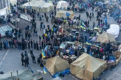 L'Ukraine - le Maidan : Naissance d'une société civile le 23 décembre 2013 Photos libres de droits