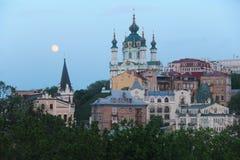 l'ukraine St Andrew et x27 ; église de s Ville de Kiev Région de Podil images libres de droits