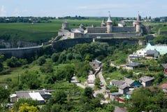 l'ukraine Vieille forteresse dans Kamianets-podilskyi Photographie stock libre de droits