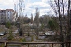 l'ukraine Zone d'exclusion de Chernobyl - 2016 03 19 Bâtiments dans la ville abandonnée de Pripyat Photographie stock libre de droits