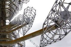 l'ukraine Zone d'exclusion de Chernobyl - 2016 03 20 Installation soviétique DUGA de radar Images libres de droits
