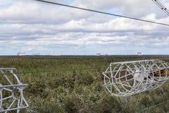 l'ukraine Zone d'exclusion de Chernobyl - 2016 03 20 Installation soviétique DUGA de radar Image libre de droits