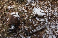 l'ukraine Zone d'exclusion de Chernobyl - 2016 03 19 Masques infectés de rayonnement Photos stock