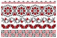 l'Ukrainien brodent des fleurs Photographie stock