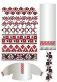 l'Ukrainien brodent la configuration Images stock