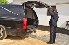 L'ultima casa della madre di presidente Laurent Gbagbo Fotografia Stock Libera da Diritti