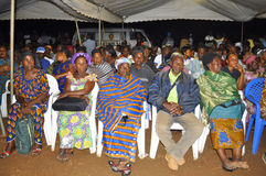 L'ultima casa della madre di presidente Laurent Gbagbo Immagini Stock
