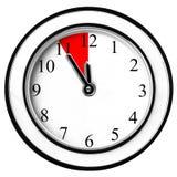 L'ultima opportunità verbalizza l'orologio di parete isolato Immagini Stock