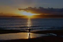 L'ultima passeggiata al sole Fotografia Stock