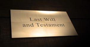 L'ultimo animazione di carta del testamento e