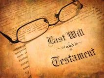 L'ultimo e testamento Fotografia Stock Libera da Diritti