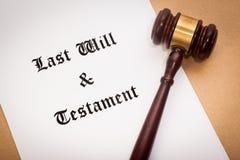 L'ultimo e testamento fotografie stock