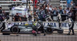 L'ultimo pozzo di Tony Kanaan prima della conquista del Indy 500 2013 fotografia stock