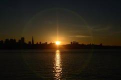 L'ultimo San Francisco Sunset di 2013 Immagine Stock