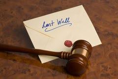 L'ultimo - testamento immagine stock libera da diritti