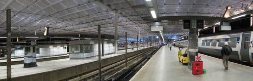 L'ultimo treno di sera è arrivato Fotografia Stock Libera da Diritti
