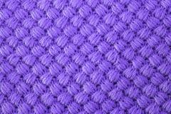 L'ultraviolet a tricoté le tissu fait en fond texturisé par fil heathered La couleur tend sur des papiers peints de conception Image stock