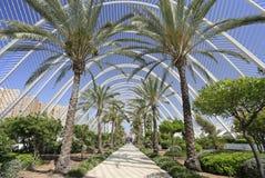 L& x27; Umbracle, часть города комплекса искусств и Sciencesis в Валенсии Стоковое Изображение