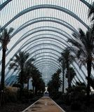 L`Umbracle Of Valencia. Valencia`s Park of Arts and Science was constructed between 1991 and 2005, with buildings dedicated to Art, Science, Sports, Music and stock images