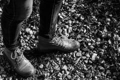 L'umidità cade sulle vostre scarpe Fotografia Stock