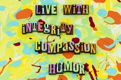L'umore in tensione della pietà di integrità ama la fede della fiducia dell'onestà royalty illustrazione gratis