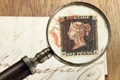 L'un nero del penny Fotografia Stock Libera da Diritti