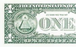 L'un plan rapproché du dollar Photo libre de droits