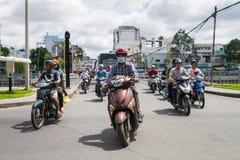 L'un trafic de manière sur une rue Photographie stock
