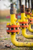 Öl und Gas, die Ventil verarbeiten Stockbilder