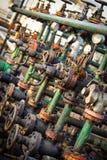 Öl und Gas, die Ventil verarbeiten Stockfoto