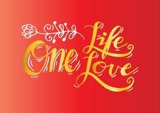 L'une vie, un amour Photographie stock