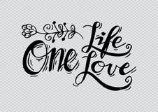 L'une vie, un amour Photo libre de droits