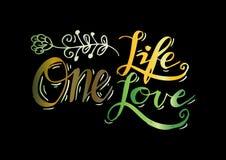 L'une vie, un amour Photos stock
