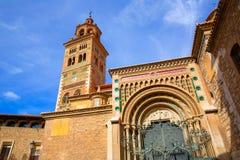 L'UNESCO Mudejar de Santa María Mediavilla de cathédrale d'Aragon Teruel photo stock