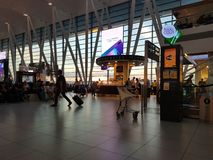 L'Ungheria, Budapest aeroporto settembre 2018 immagini stock libere da diritti