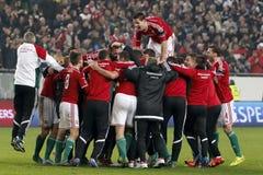 L'Ungheria contro i Paesi Bassi Partita 2016 di calcio della partita di spareggio del qualificatore dell'euro dell'UEFA della Nor Fotografie Stock Libere da Diritti